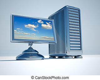 red de computadoras, servidor