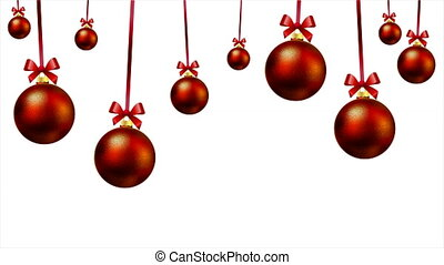 Red decoration on the Christmas holiday