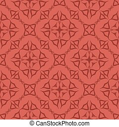 Red Decorative Retro Seamless Pattern