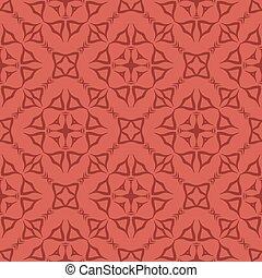 Red Decorative Retro Seamless Pattern