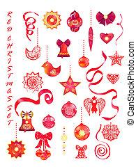 Red decorative set
