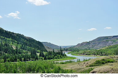 RED DEER RIVER IN DRY ISLAND BUFFALO JUMP PROVINCIAL PARK