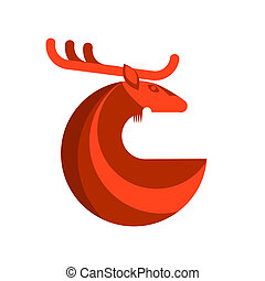 Red Deer Round Icon