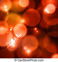 Bokeh red lights - red defocused lights background. abstract...