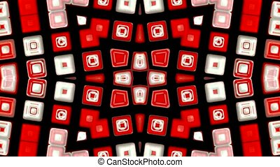 red deform mosaics background