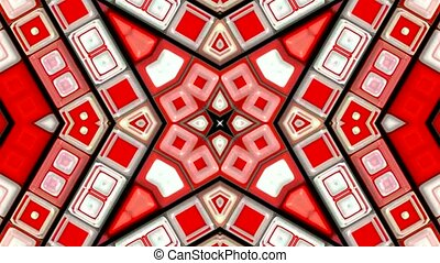 red deform mosaics background