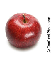 Red Delicious Apple on White Background