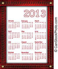 Red denim calendar 2013