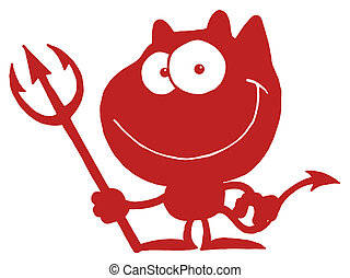 Red Devil - Red And White Grinning Devil