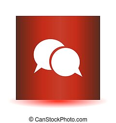Red dialogue icon