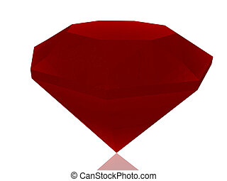 red diamond isolated on white