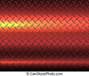 Red diamond metal sheet texture