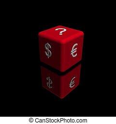 Red dice dollar vs euro