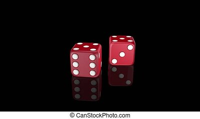 Red dice with alpha channel high quality resolution