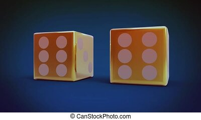 red dice with six number in focus