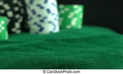 Red Dices in Gambling Table