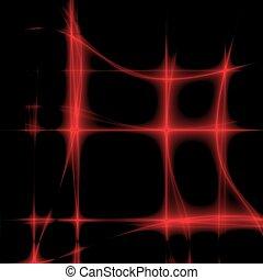 red digital glow