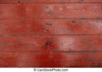 Red dirty wooden boards
