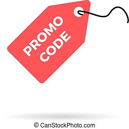 Red discount label sale price tag icon