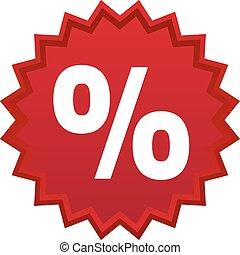 Red discount symbol