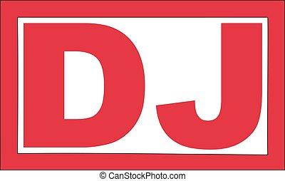 Red DJ stamp