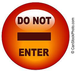 red do no enter web button or icon - vector