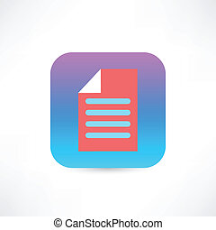 Red document icon