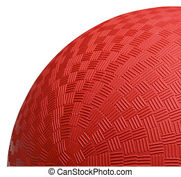 Red Dodoge Ball Close Up - Close up Section of Red Dodge...