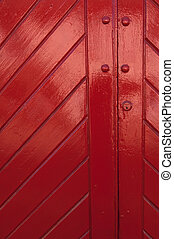 Red Door, bright and shiney