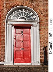 Red door. Dublin, Ireland