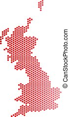 Red Dot Great Britain Map