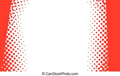 Red Dot Halftone Background