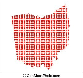 Red Dot Map of Ohio
