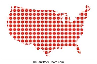 United States Dot Map Clipart Vector Graphics United States - Us dot map