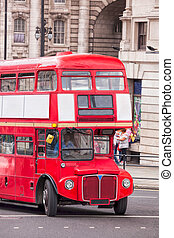 Red double decker bus in London, England, UK