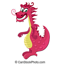 Red dragon cartoon