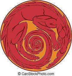 Red Dragon Circle
