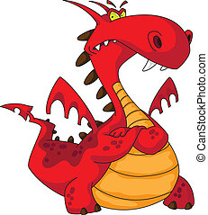 red dragon - illustration of a red dragon