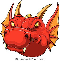 red dragon head mascot
