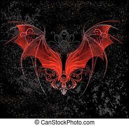Red dragon wings - Red Dragon wings, decorated with a...