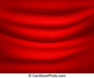 Red drapery. Abstract vector background
