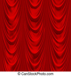 Red drapery - Seamless red drapery texture
