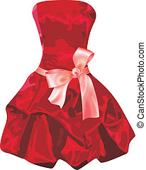 Red Dress - Scalable vectorial image representing a red...