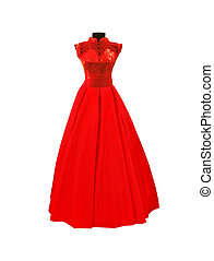 red dress isolated