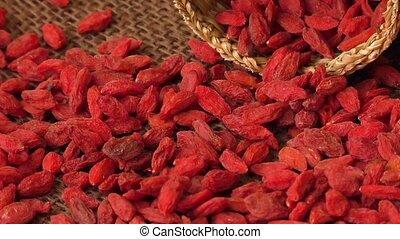 Red dried goji berries ( Lycium Barbarum , wolfberry )