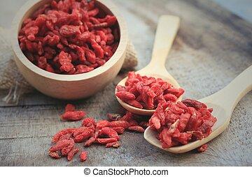 Red dried goji berries