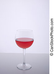 red drink in the glass
