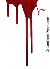 Red drop of blood isolated