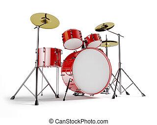 Red drum set