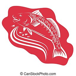 red-drum-spottail-bass-fish - illustration of a red drum...